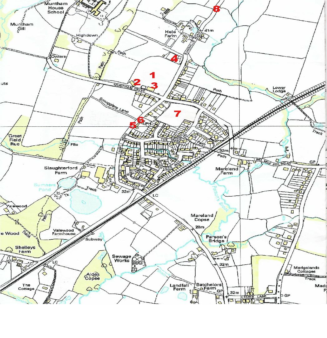 Barns Green Map